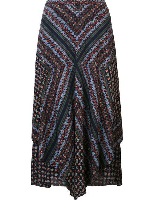 Derek Lam 10 Crosby | Женское Синий Layered Patterned A-Line Skit