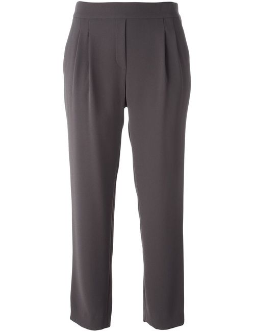 Steffen Schraut | Коричневый Loose-Fit Cropped Trousers