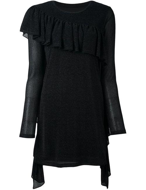 MM6 by Maison Margiela | Женское Чёрное Платье-Свитер С Бахромой