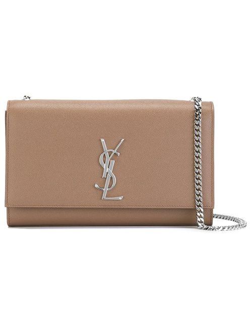 Saint Laurent | Nude & Neutrals Monogram Shoulder Bag