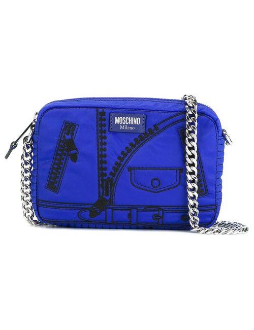 Moschino | Синяя Сумка На Плечо С Принтом