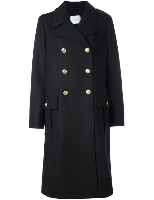 Pierre Balmain   Женское Чёрное Двубортное Пальто
