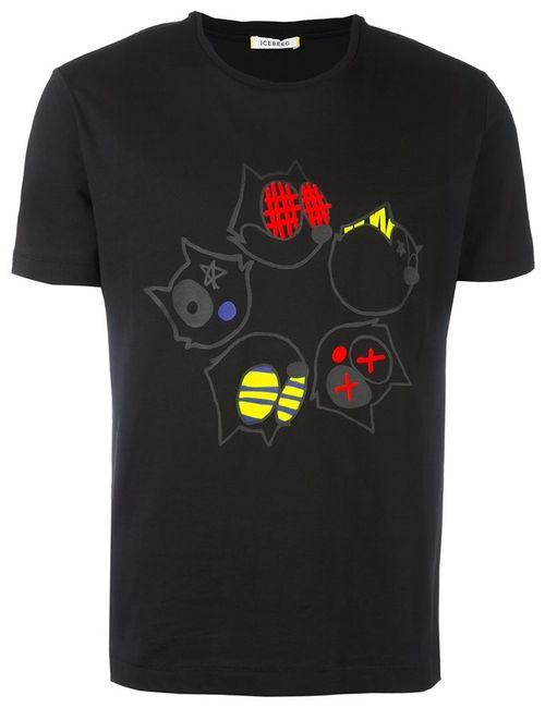 ICEBERG | Мужское Чёрный Felix The Cat T-Shirt