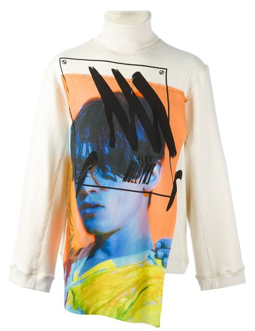 Alex Mullins   Мужское Nude & Neutrals Printed Patch Sweatshirt