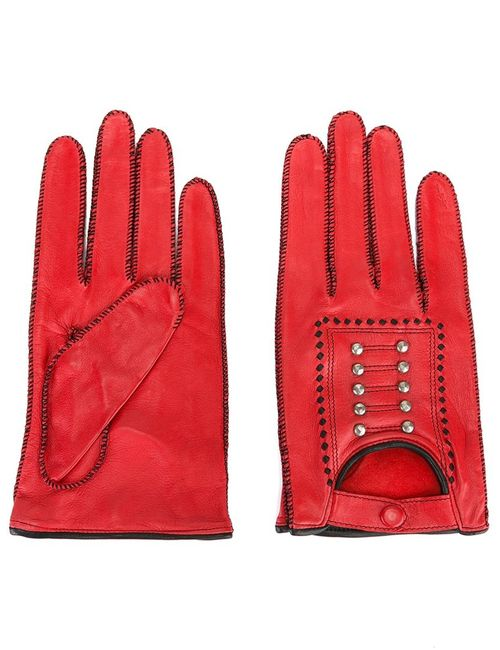 JEAN PAUL GAULTIER VINTAGE   Женское Красный Studded Gloves