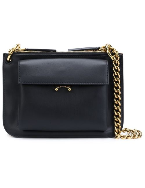 Marni | Черный Double Compartment Shoulder Bag
