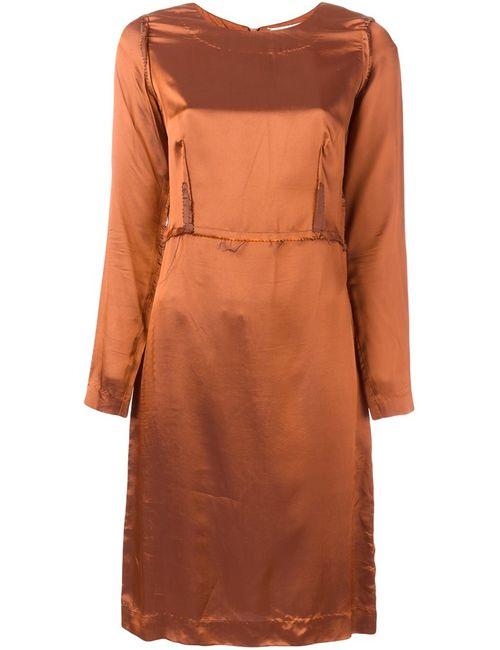 Maison Margiela | Женское Коричневое Платье Inside Out