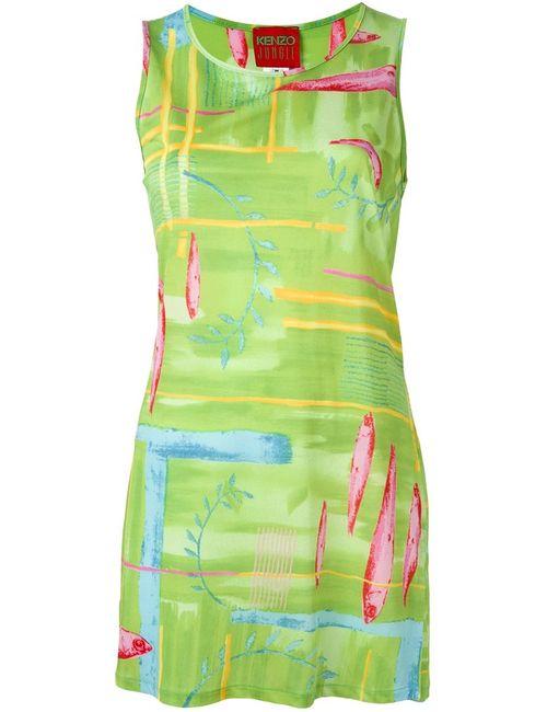Kenzo | Женское Зелёное Платье С Узором
