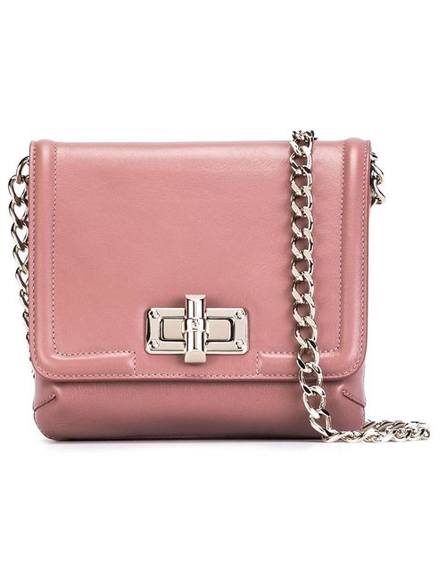 Lanvin | Розовый Mini Happy Crossbody Bag
