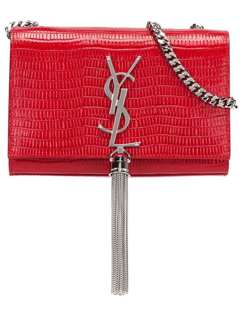 Saint Laurent | Красная Маленькая Сумка На Плечо Kate Monogram