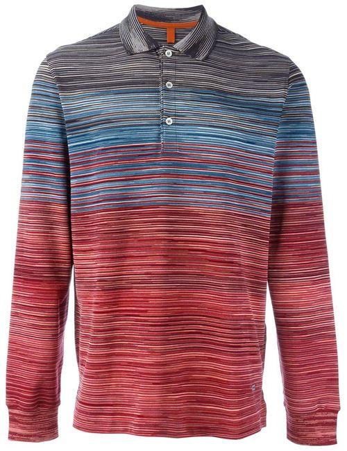 Missoni   Мужское Многоцветный Gradient Striped Polo Shirt