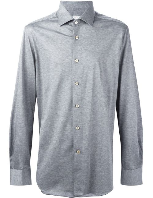 Kiton | Мужское Серый Melange Button Down Shirt