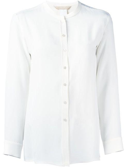 'S Max Mara | Женская Белая Рубашка Без Воротника