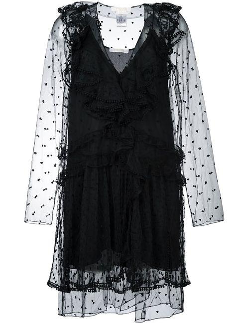 Chloe | Женское Черный Chloé Lace Ruffle Dress
