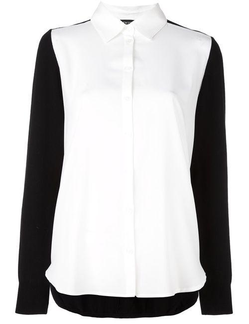 Twin-set | Женская Чёрная Рубашка С Контрастными Панелями