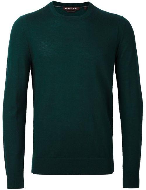 Michael Kors | Мужской Зелёный Джемпер С Круглым Вырезом
