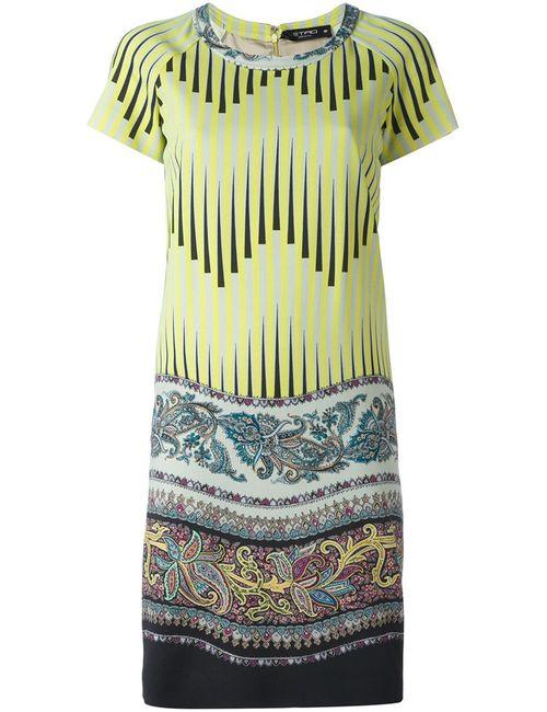 Etro | Женское Зелёное Платье С Принтом Арабеске