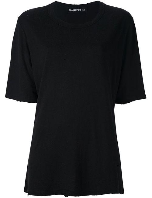 Filles A Papa | Женское Чёрный Plain T-Shirt