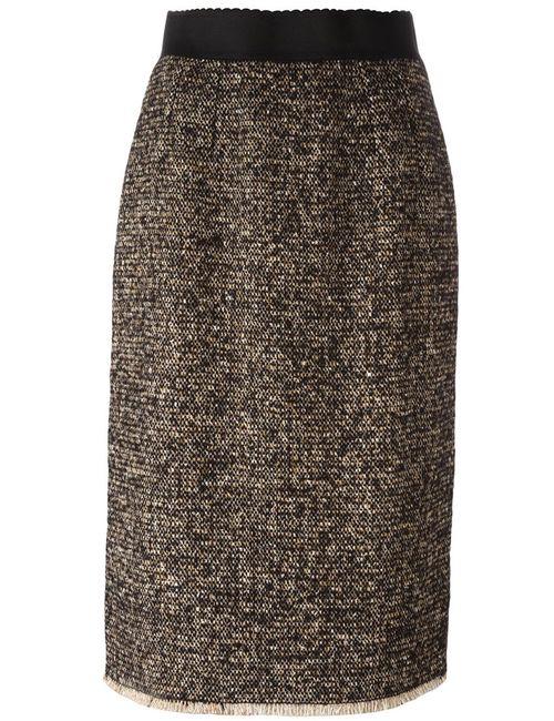 Dolce & Gabbana | Женское Коричневый Tweed Pencil Skirt