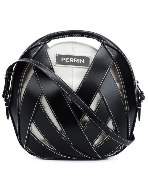 PERRIN PARIS | Чёрный Straps Detail Crossbody Bag