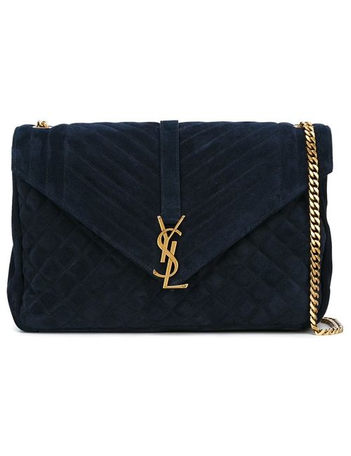 Saint Laurent   Синий Monogram Shoulder Bag