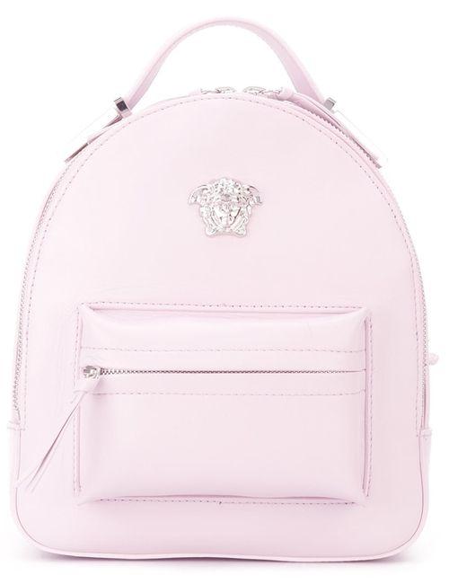 Versace | Женский Розовый Маленький Рюкзак Medusa