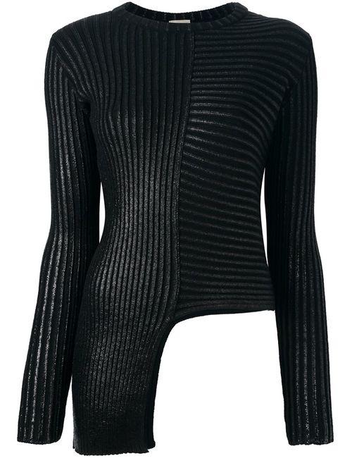 Nude | Женское Чёрный Asymmetric Round Neck Pullover