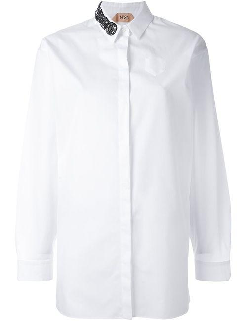 No21 | Женская Белая Рубашка С Декорированным Воротником