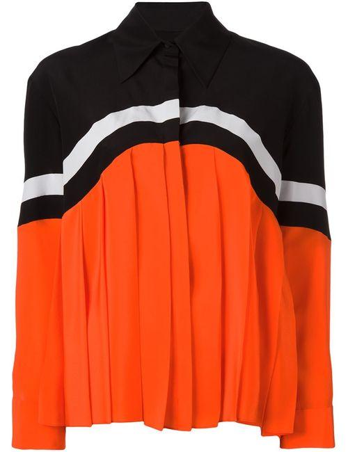 Victoria, Victoria Beckham | Женская Чёрная Плиссированная Рубашка