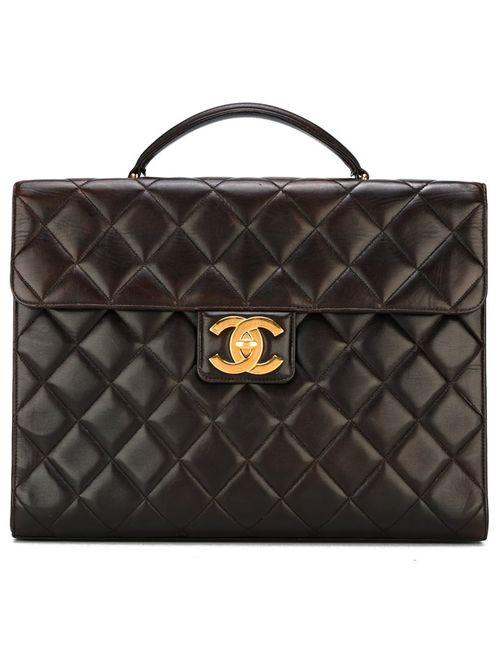 Chanel Vintage | Женский Коричневый Стеганый Портфель