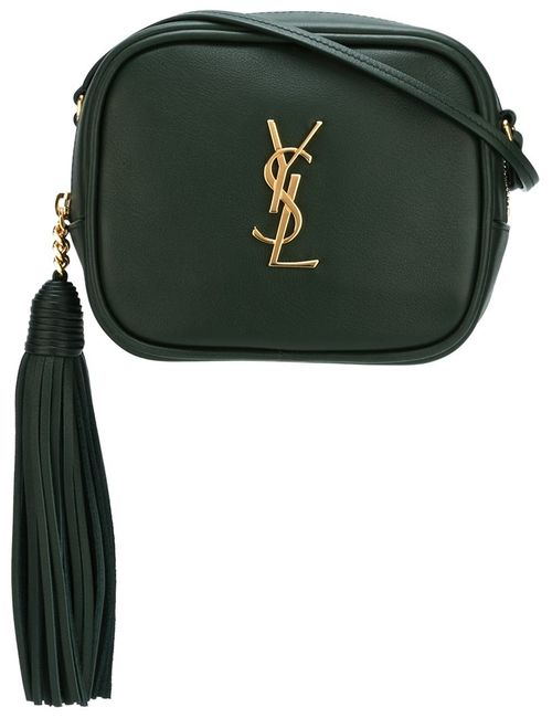 Saint Laurent | Зелёный Monogram Blogger Crossbody Bag