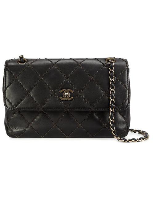 Chanel Vintage | Женское Чёрный Medium Quilted Shoulder Bag