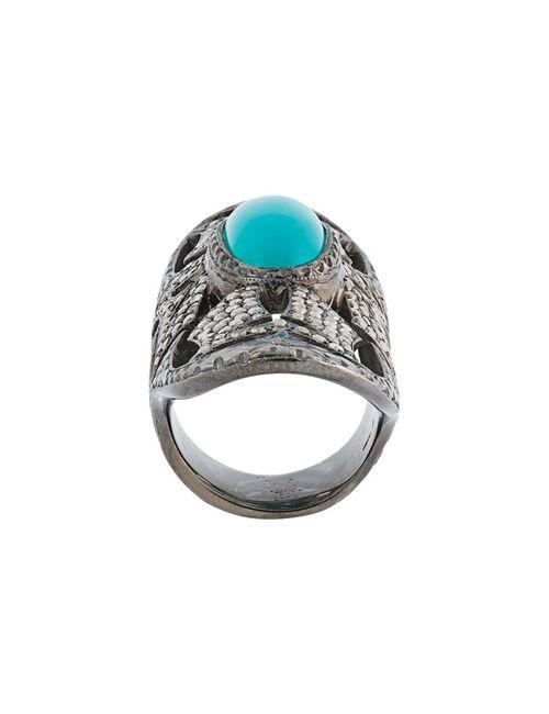 LOREE RODKIN | Серебристый Turquoise Diamond Bondage Ring