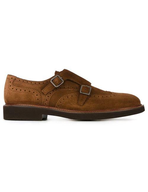 Canali | Мужское Коричневый Classic Monk Shoes