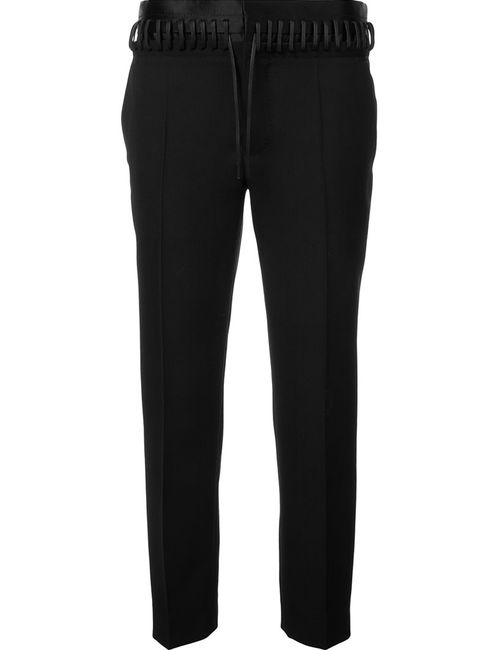 Haider Ackermann | Чёрный Whipstitch Waistband Trousers