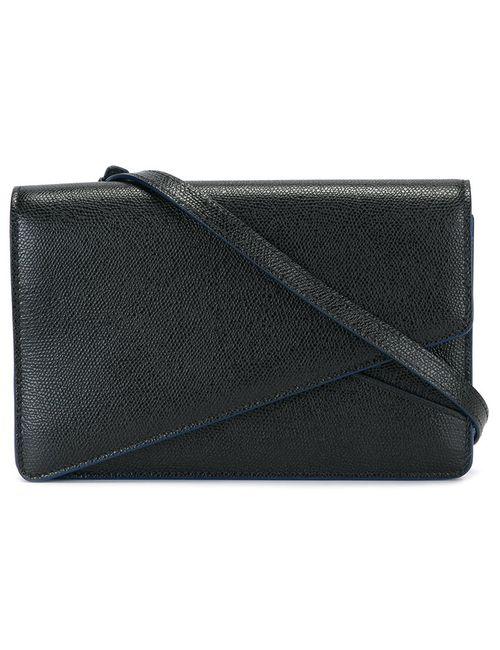Valextra | Чёрный Clasp Closure Cross Body Bag
