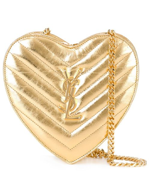 Saint Laurent | Серебристая Маленькая Сумка Love Heart