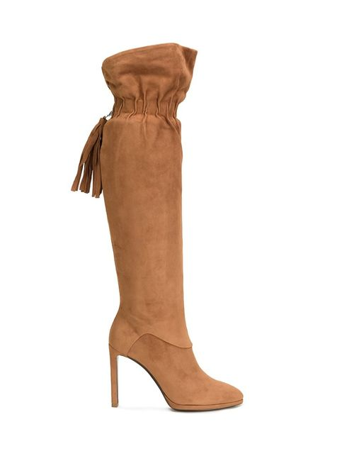 Roberto Cavalli | Женское Коричневый Elasticated Fringed Detailing Boots