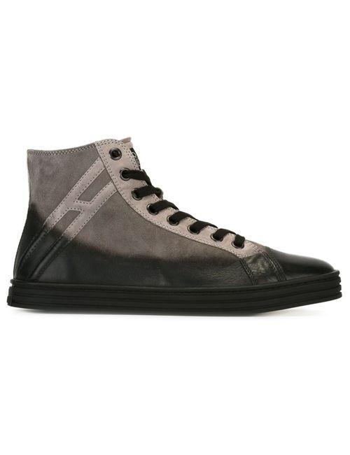 Hogan Rebel | Мужское Серый Panelled Hi-Top Sneakers