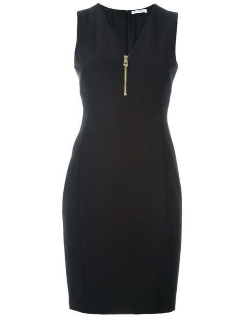 Versace Collection | Женское Чёрный Zip Neckline Mini Dress