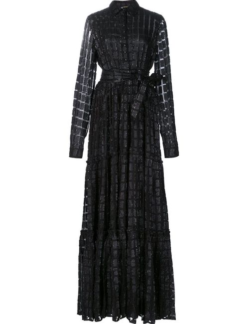 DODO BAR OR | Женское Чёрное Полупрозрачное Платье-Рубашка