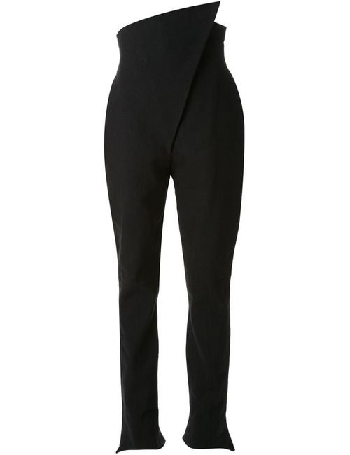 AGANOVICH | Чёрный Asymmetric High Waist Trousers
