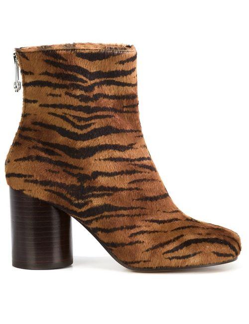 Maison Margiela | Женские Коричневые Ботинки По Щиколотку Tabi