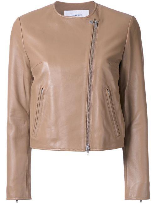 LE CIEL BLEU   Женская Коричневая Куртка Minimal Riders