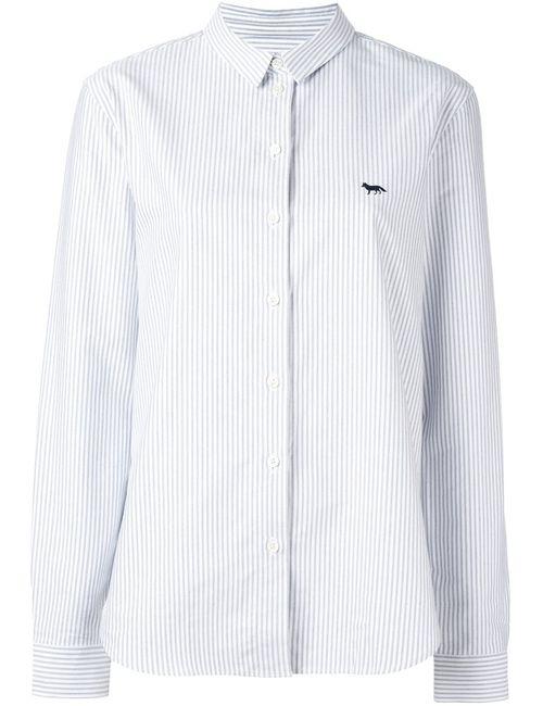 Maison Kitsune | Женская Белая Рубашка В Полоску