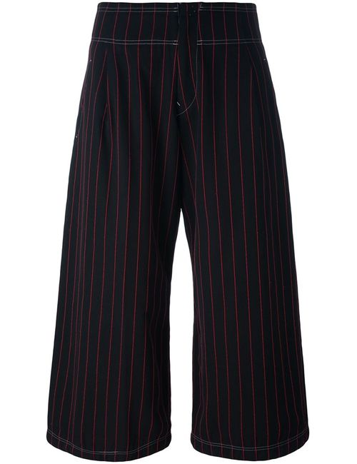 YOHJI YAMAMOTO VINTAGE | Черный Striped Culottes