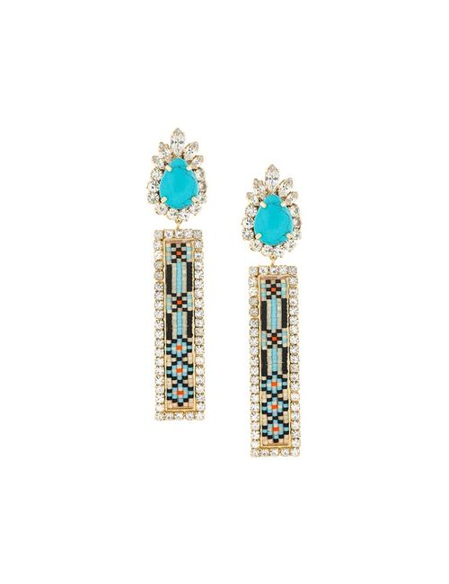 Shourouk | Синий Bastet Clip-On Earrings