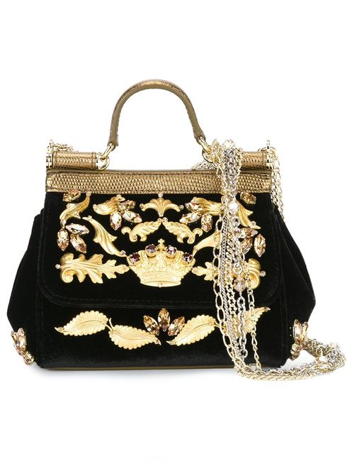 Dolce & Gabbana | Чёрный Mini Sicily Tote