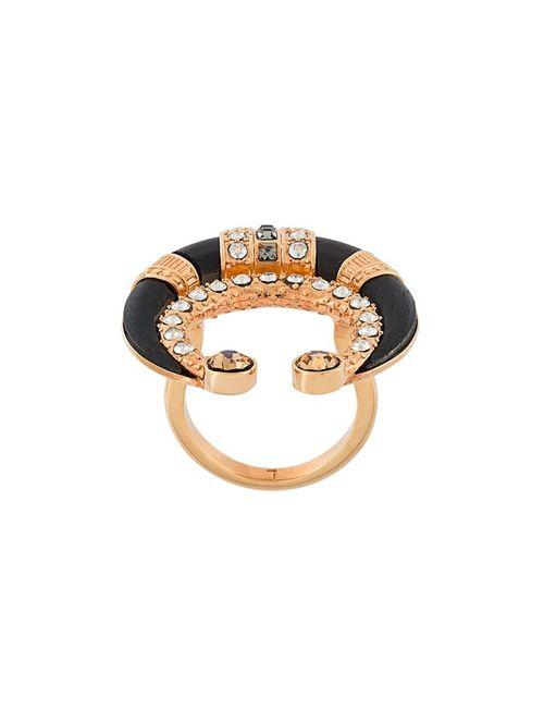 Ca & Lou | Чёрный Crystal Embellished Ring