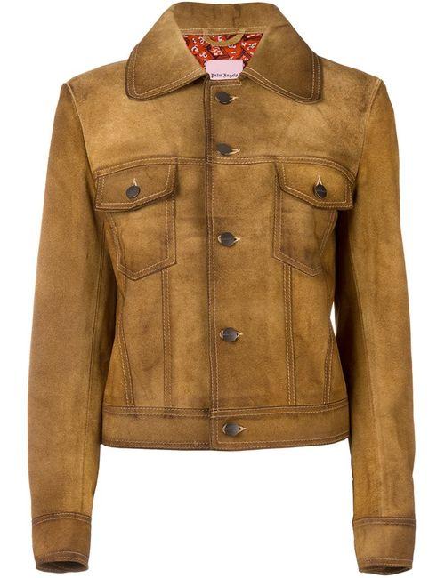 PALM ANGELS | Женская Коричневая Фактурная Куртка